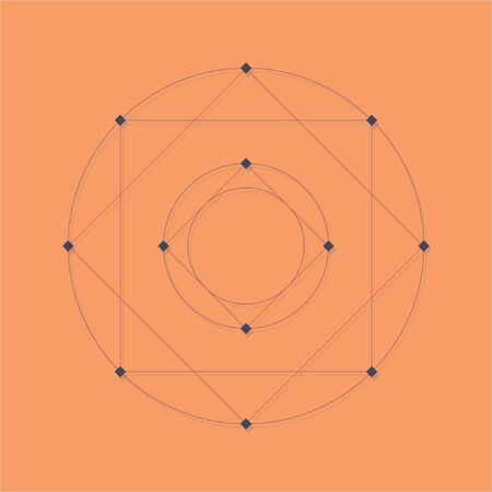 abstract geometric background with dots in knots, eps 8