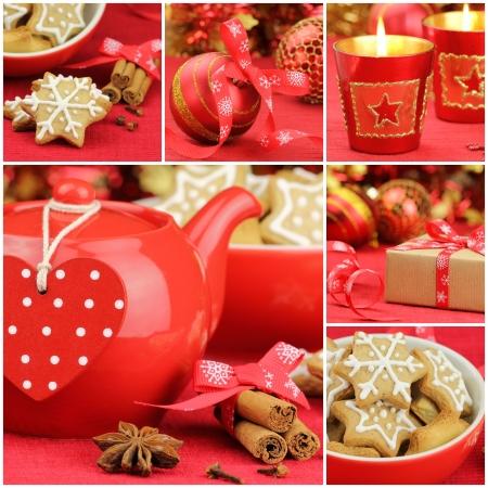 christmas tea: Christmas collage