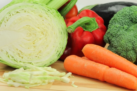 Mix of fresh vegetables photo