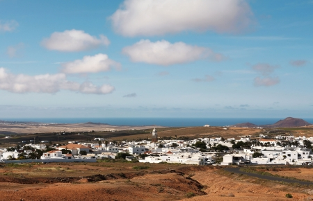 lanzarote: Beautiful view on Teguise, Lanzarote  Canary Islands, Spain  Stock Photo