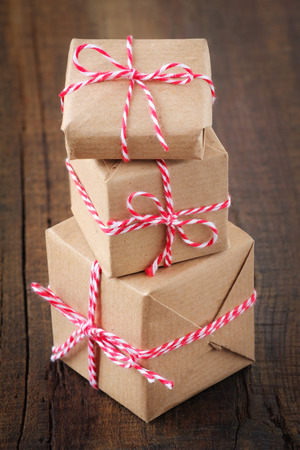 traditional gifts: Stack of Christmas presents