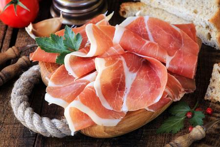 cured ham: Jamon serrano - Spanish cured ham or Italian prosciutto