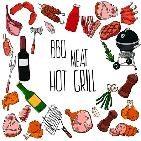 BBQ grill meat barbecue restaurant dinner party at home dinner