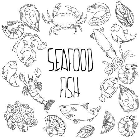 Healthy food drawings for menu design. Vector illustration