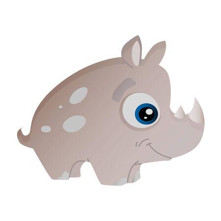 cartoon illustration of african animal hippo