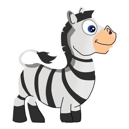 cartoon illustration of african animal zebra