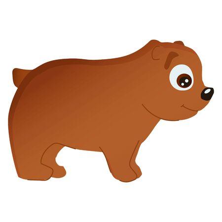 cartoon illustration of african animal bear Illusztráció