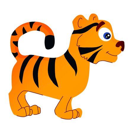 cartoon illustration of african animal tiger Illusztráció