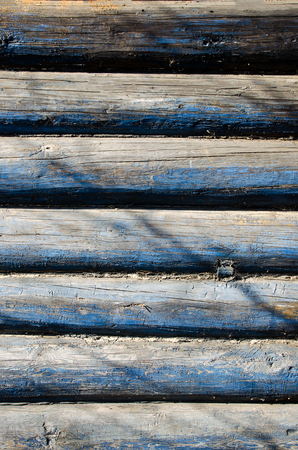 wood panel: part of the wall made of wooden logs