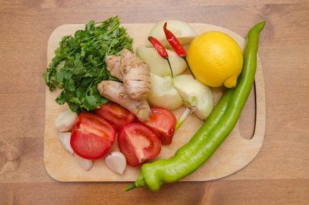 chutney: vegetables for chutney sauce Stock Photo