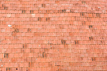 Pattern of the old tiles roof of house, Texture background