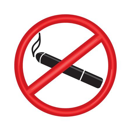No smiking sign symbol. vector illustration on white background. Please do not smoke Stock Illustratie