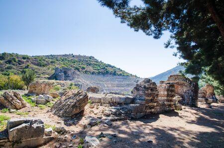 Ancient Efes Efesus city ruins in Turkey