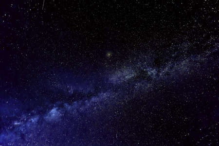 Milky way galaxy with stars, space dust and sunlight in the universe