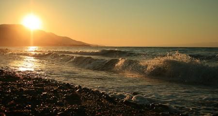 A secret shore near Canakkale, Assos-Turkey. Stock Photo