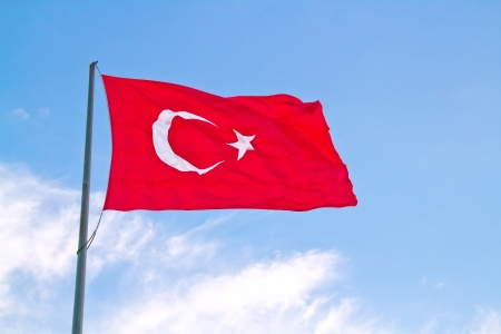 turkish flag: High In The Blue Sky
