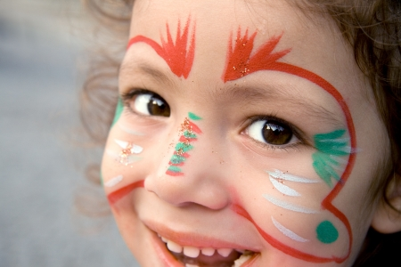 A close up of a Turkish little girl