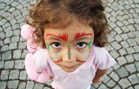 A close up of a Turkish little girl Stock Photo - 16590538
