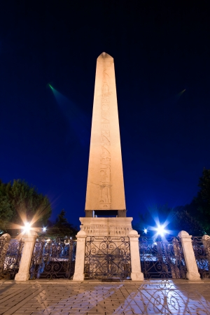Obelisk In Istanbul at Night