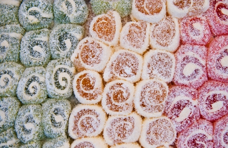 locum: Colorful Traditional Turkish Delight Background