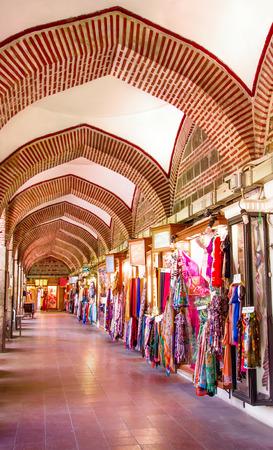 Inside of Koza Han, Bursa, Turkey where they sell silk first hand
