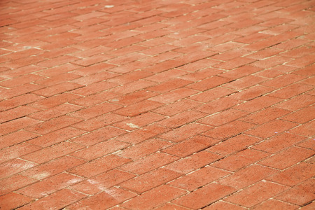 Traditional Brick Road Background Texture Stock Photo