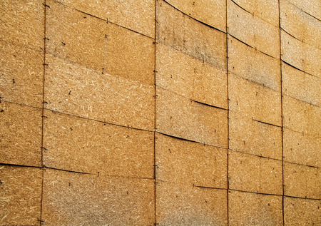 A Construction Site Closed With Oriented Strand Boards