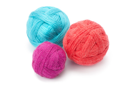 weave ball: yarn in balls isolation on a white background Stock Photo
