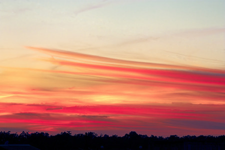 fascinating: fascinating and beautiful sunrise on a summer morning