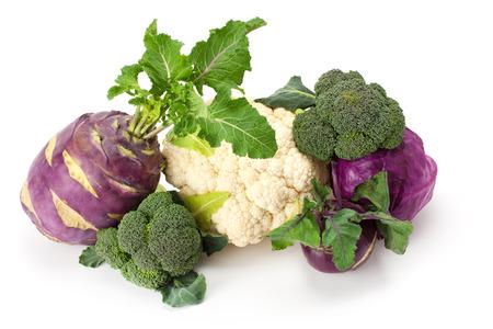 fresh , ripe cabbage isolated on white background.