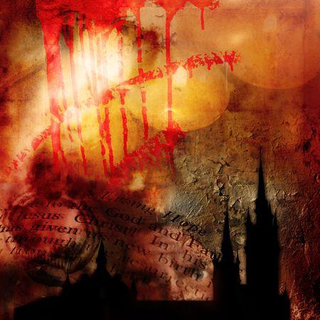 Fondo abstracto de la religión Foto de archivo - 346164
