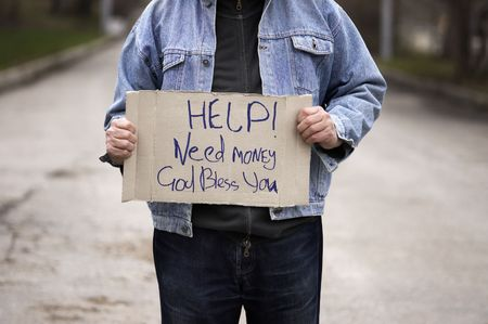 Help!Need money! Stock Photo - 387406