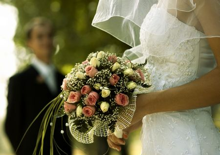 bridal bouquet(focus on the flowers,special photo fx) photo