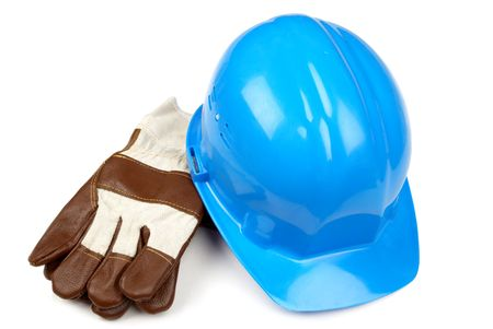 hard-hat and working gloves Stock Photo - 827368