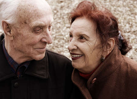 senior love story (focus point on her eye, special sepia photo toned f/x) Stock Photo - 872884