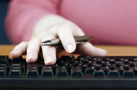 office work (special photo toned f/x,focus point on forefinger) Stock Photo - 875160