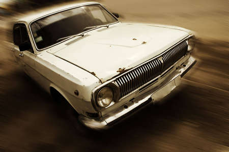 grunge speed (special toned and motion photo f/x, focus on nearest part of  car) Stock Photo - 906428
