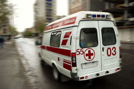 ambulance (special motion blur and toned photo f/x, (no TM on car)) Stock Photo - 920112