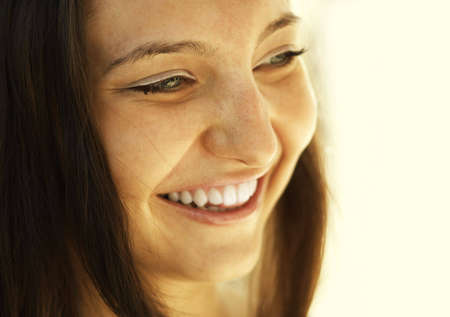 happy girl (special photo toned f/x, focus point on eye) Stock Photo - 962128