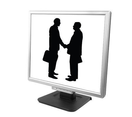 dvi: e-partnership Stock Photo