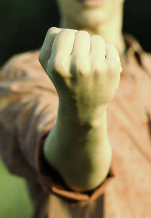 persuasion: rebel (special soft photo fx, focus point on hand(selective))