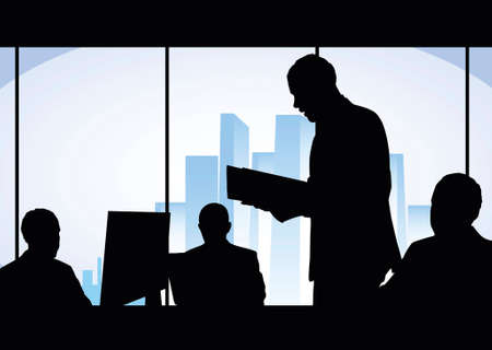 businessmen works in office photo