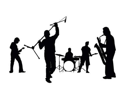 music band  Stock Photo