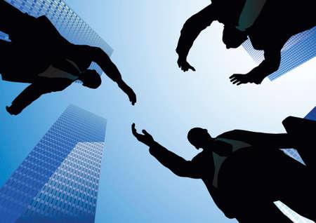 handclasp: business handshake
