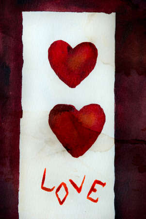 aquarel: Love (for St. Valentines Day,my paint)