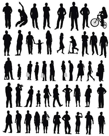 juniors: isolated silhouettes on the white background  ,all made from my photos