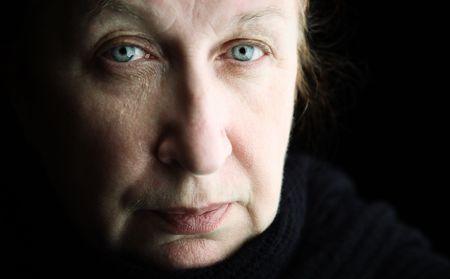 mental portrait, focus point on eye (film-looking photo f/x) Stock Photo - 2167804