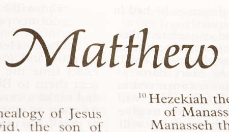 ascribed: Matthew the first Gospel, traditionally ascribed to him