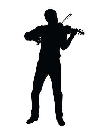 fiddlestick: play the violin Stock Photo