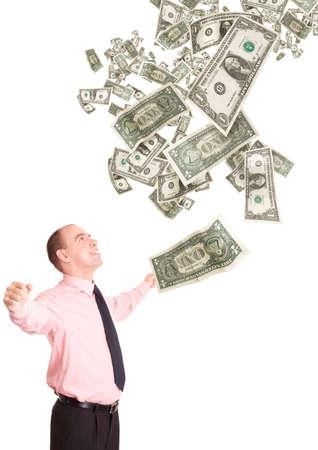 moneymaker: happy moneymaker Stock Photo